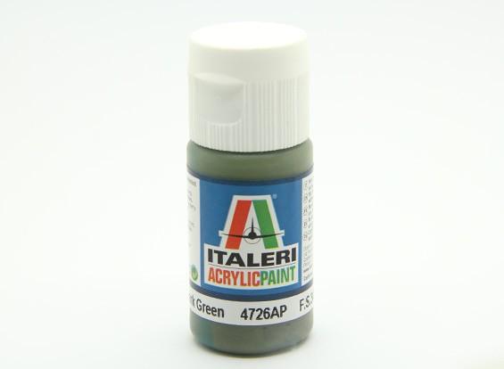 Italeri Acrylic Paint - Flat Dark Green (4726AP)