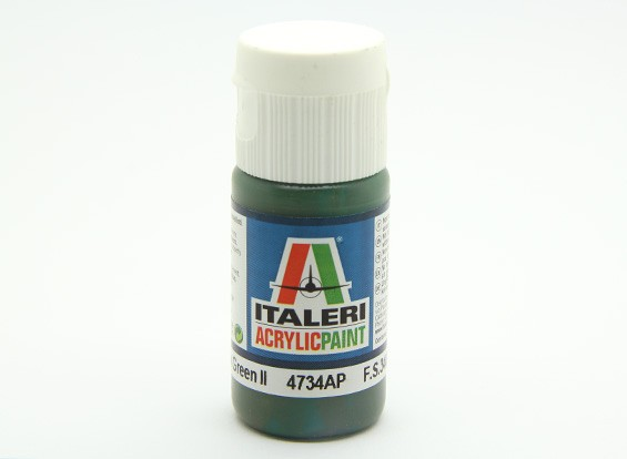 Italeri Acrylic Paint - Flat Medium Green 2 (4734AP)