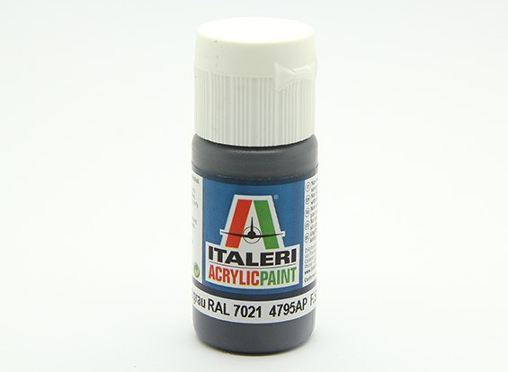 Italeri Acrylic Paint - Flat Pz Schwarzgrau RAL 7021 (4795AP)