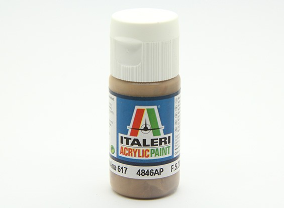 Italeri Acrylic Paint - Flat Dark Earth Ana 617 (4846AP)