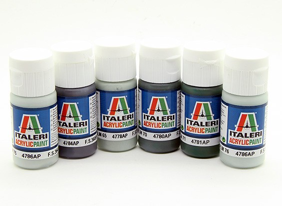 Italeri Acrylic Paint Set (Flat) - WWII Luftwaffe Aircraft (6pc)