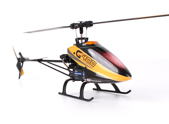 Walkera G400 GPS Series 6CH Flybarless RC Helicopter (B&F)