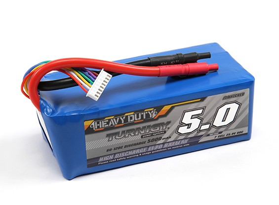 Turnigy Heavy Duty 5000mAh 7S 60C Lipo Pack