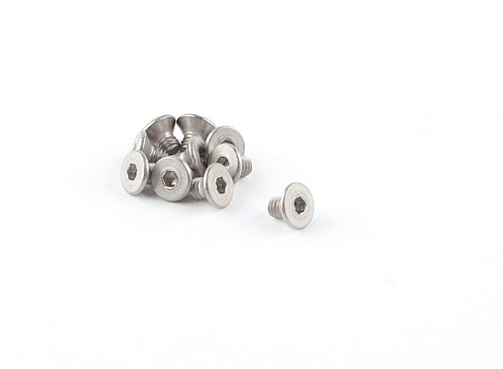 Titanium M2.5 x 4 Countersunk Hex Screw (10pcs/bag)