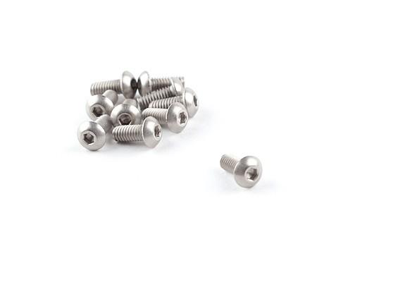 Titanium M2.5 x 6mm Button Head Hex Screw (10pcs/bag)