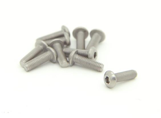 Titanium M3 x 10mm Dome Head Hex Screw (10pcs/bag)