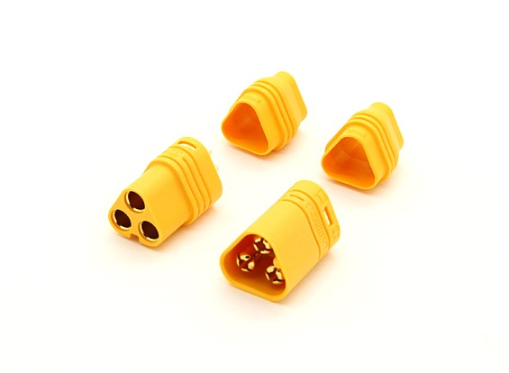 MT60 3 Pole Motor / ESC Connector Set 14AWG Male - Female (1 set)