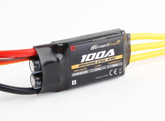 RotorStar 100A (2~6S) SBEC Brushless Speed Controller