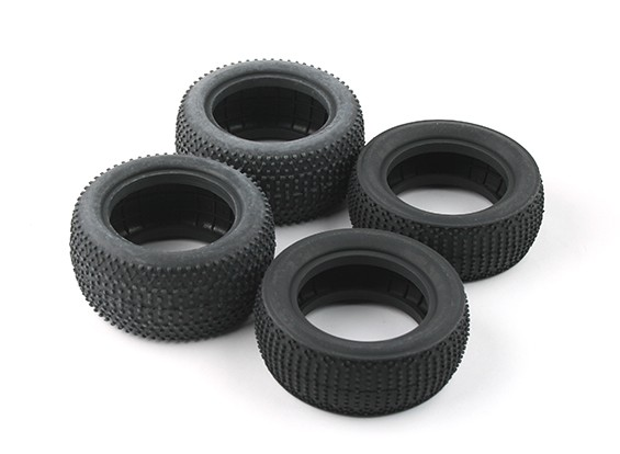 Front and Rear Tire set (4pcs) - BSR Racing BZ-222 1/10 2WD Racing