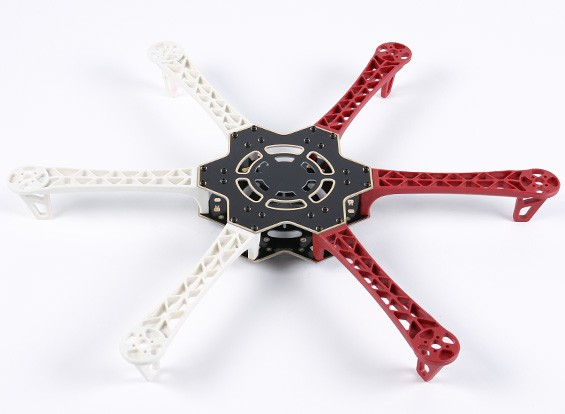 H500 V3 Glass Fiber Hexacopter Frame 500mm - Integrated PCB Version