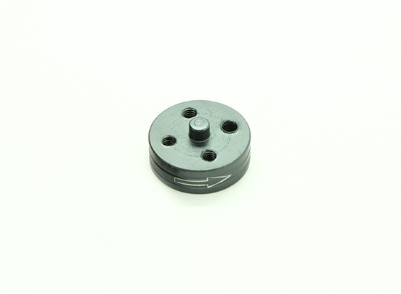 CNC Aluminum Quick Release Self-Tightening Prop Adapter - Titanium (Prop Side) (Clockwise)