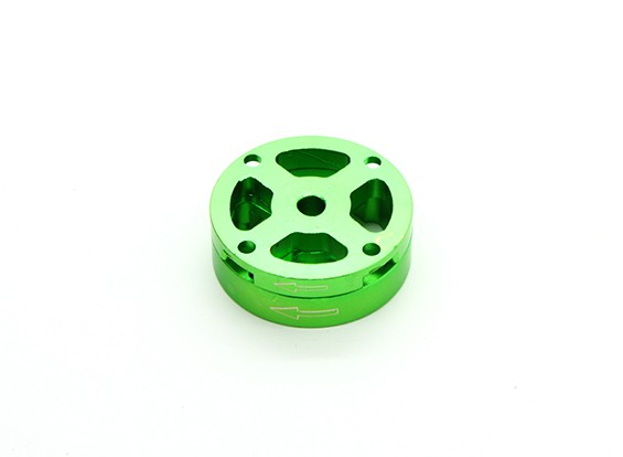 CNC Aluminum M10 Quick Release Self-Tightening Prop Adapter Set - Green (Clockwise)