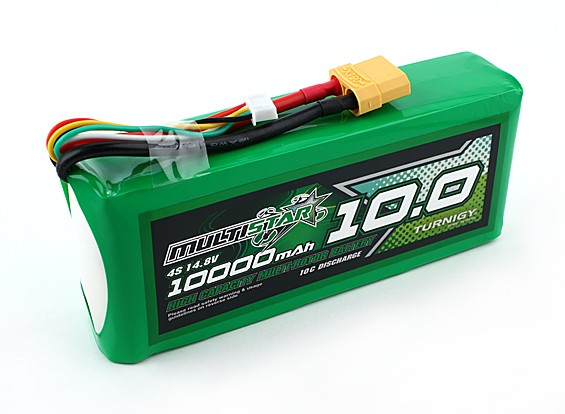 Multistar High Capacity 4S 10000mAh Multi-Rotor Lipo Pack