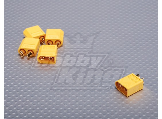 Male XT60 Connectors (5pcs/bag) GENUINE