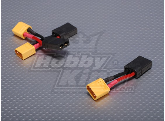 Female Traxxas compatible <-> Male XT60 (3pcs/bag)