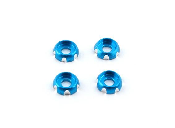 Aluminum 3mm CNC Roundhead Washer - Blue (4pcs)