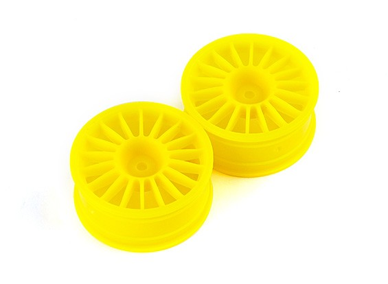 Basher RZ-4 1/10 Rally Racer - 26mm Front Wheel - Yellow (2pcs)