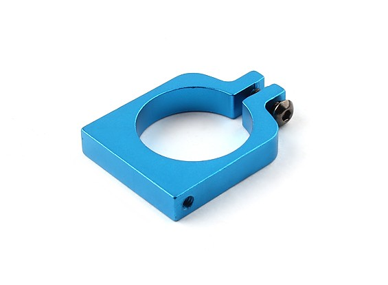 Blue Anodized Single Sided CNC Aluminum Tube Clamp 22mm Diameter