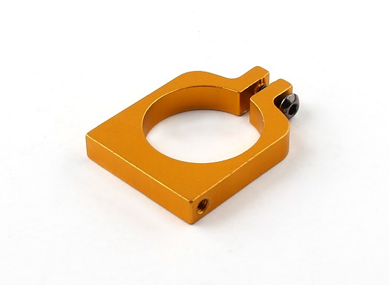 Gold Anodized Single Sided CNC Aluminum Tube Clamp 22mm Diameter