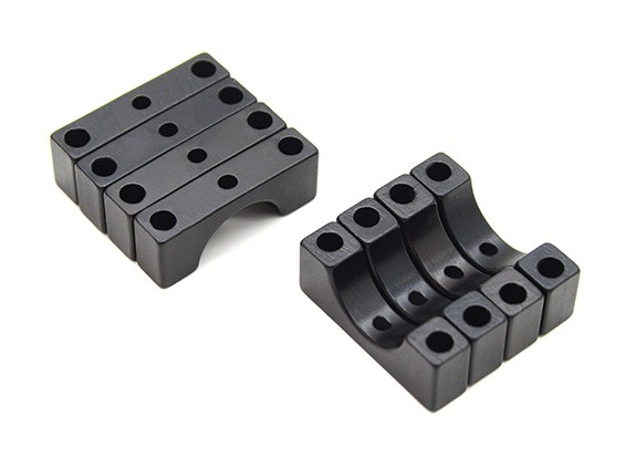 Black Anodized CNC 4.5mm Aluminum Tube Clamp 10mm Diameter