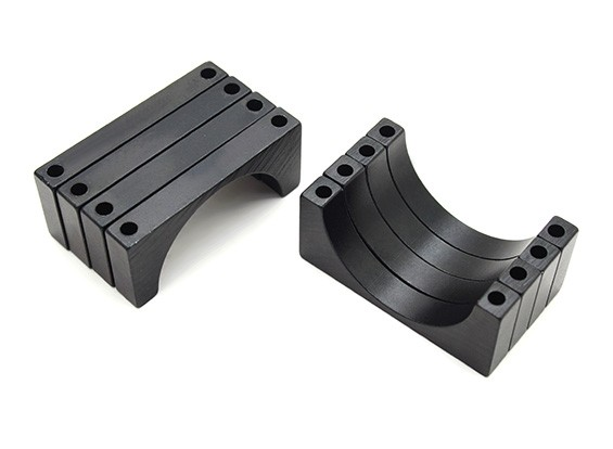 Black Anodized CNC 6mm Aluminum Tube Clamp 30mm Diameter