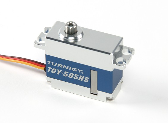 Turnigy™ TGY-505HS Brushless HS/HV/BB/DS/MG Servo 25T w/Alloy Case 4.8kg / 0.04sec / 40g