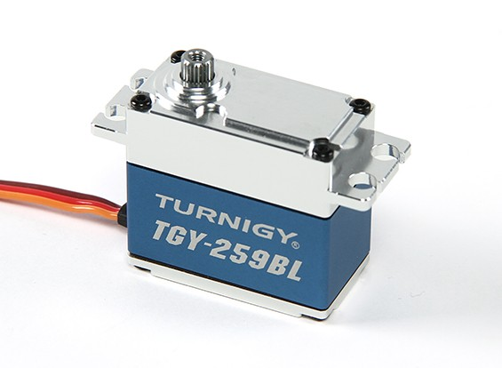 Turnigy™ TGY-259BL Brushless High Torque DS Servo 25T w/Alloy Case 16kg / 0.09sec / 70g