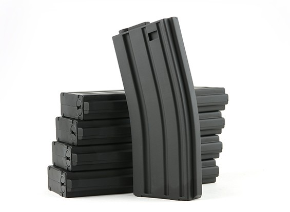 King Arms 120rounds magazines for Marui M4/M16 AEG series (Black, 5pcs/ box)