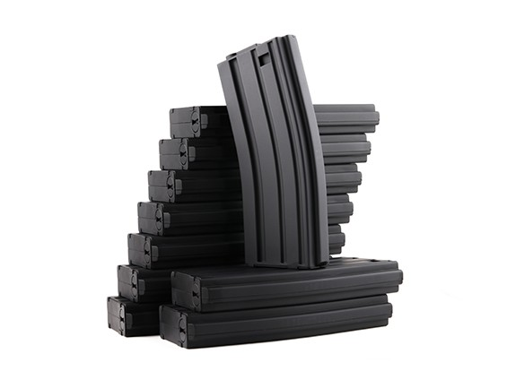 King Arms 120rounds magazines for Marui M4/M16 AEG series (Black, 10pcs/ box)