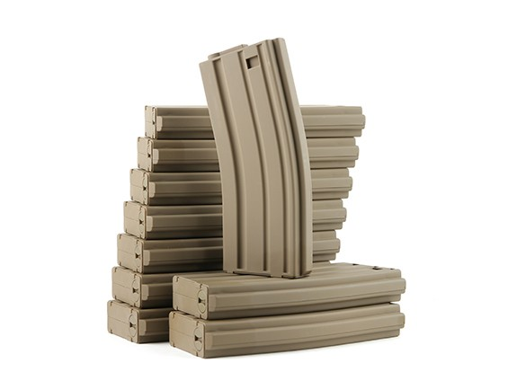 King Arms 120rounds magazines for Marui M4/M16 AEG series (Dark Earth, 10pcs/ box)