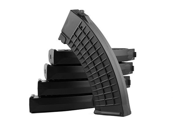 King Arms 110rounds Polish type magazines for Marui AK AEG (Black, 5pcs/ box)