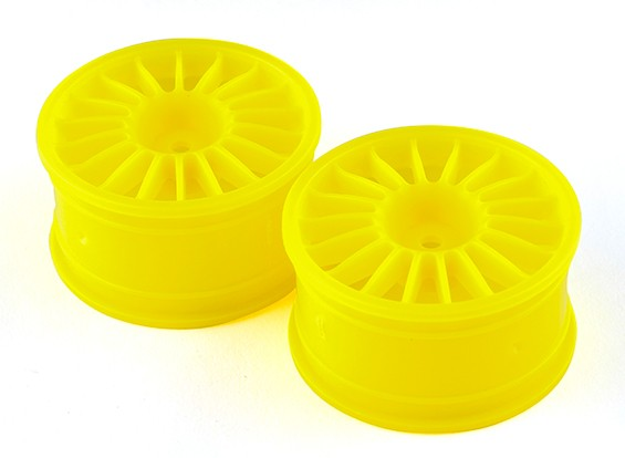 Basher RZ-4 1/10 Rally Racer - 30mm Rear Wheel - Yellow (2pcs)