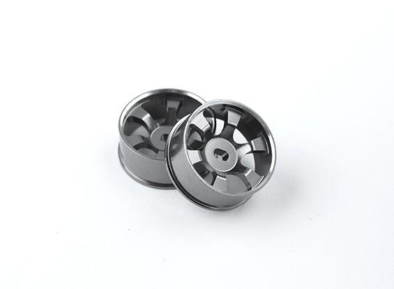 Aluminum Alloy Front Wheels 2.5mm Offset Turnigy TZ4 AWD - 6 Spoke (2pc)
