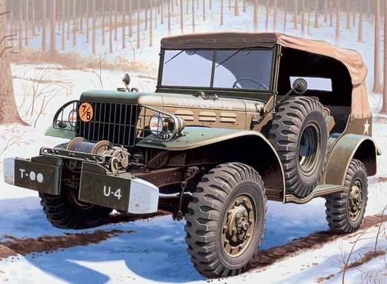 Italeri 1/35 Scale Dodge Staff car WC 56 Plastic Model Kit