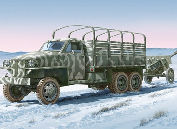 Italeri 1/35 Scale Lend Lease U.S.Truck with ZIS-3 Gun Plastic Model Kit