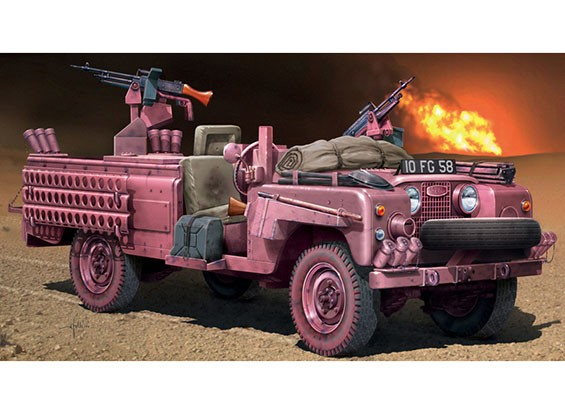 Italeri 1/35 Scale S.A.S. Recon Vehicle Pink Panther Plastic Model Kit