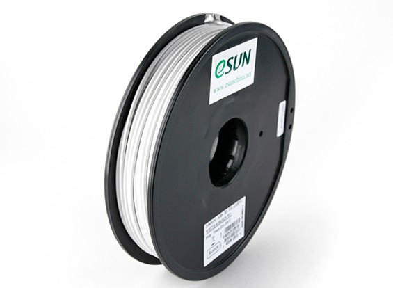 ESUN 3D Printer Filament White 3mm ABS 0.5KG Spool