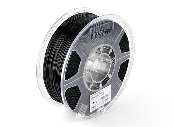 ESUN 3D Printer Filament Black 1.75mm PLA 1KG Roll