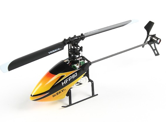 HiSky HFP80 V2 Mini Fixed Pitch RC Helicopter (Connection Ready)