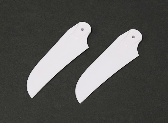 RJX White 85mm Plastic Tail Blades (1 pair)