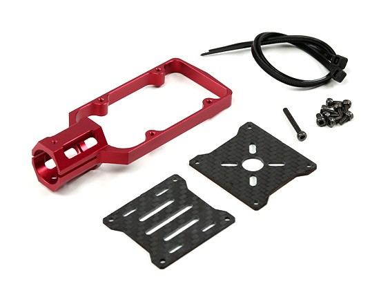 CNC Motor Mount for DIY Multi-Rotors 16mm Tube (Red)