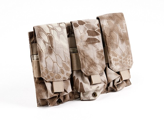 SWAT Molle M4 Triple Mag Pouch (Kryptek Nomand)