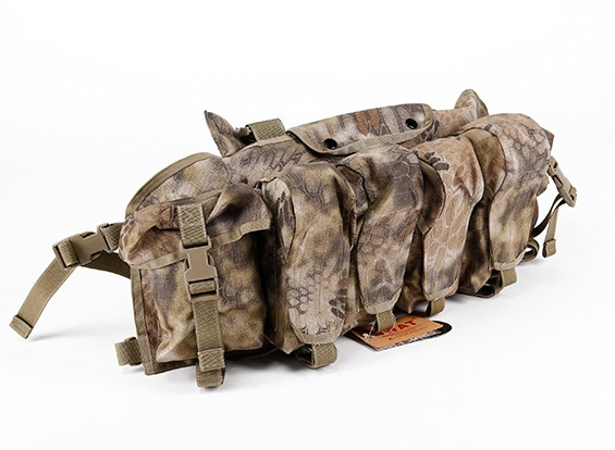 SWAT Cordura AK Front Chest Pouches (Kryptek Highlander)