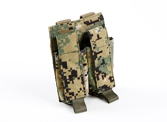 SWAT 500D Nylon Molle Handgun Double Mag Pouch (AOR2)