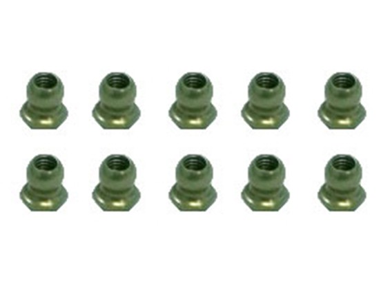 7075 Aluminum Teflon Coated 4.8mm Hex Ball Stud L=4 (10pcs) - 3Racing SAKURA FF 2014