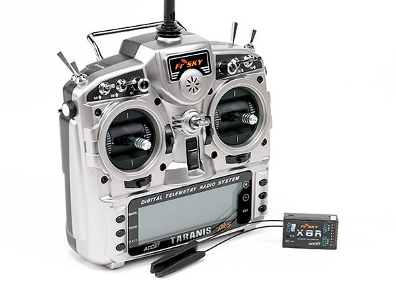 FrSky 2.4GHz ACCST TARANIS X9D PLUS and X8R Combo