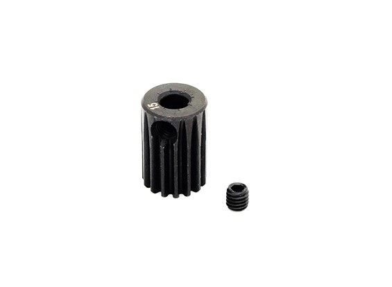 Hobbyking™ 0.5M Hardened Steel Helicopter Pinion Gear 3.5mm Shaft - 15T
