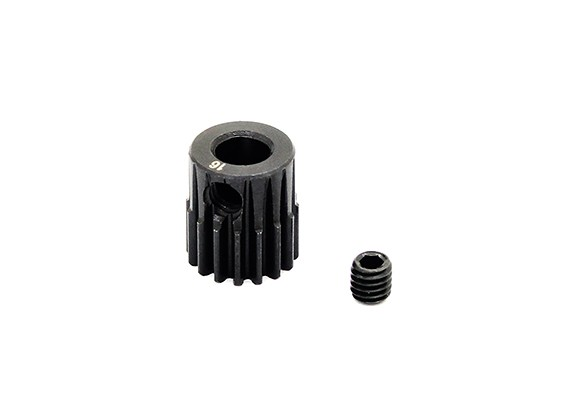 Hobbyking™ 0.6M Hardened Steel Helicopter Pinion Gear 5mm Shaft - 16T