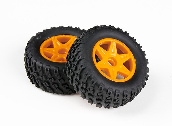 H-King Sand Storm 1/12 2WD Desert Buggy - Complete Front Tire Set (2pcs)