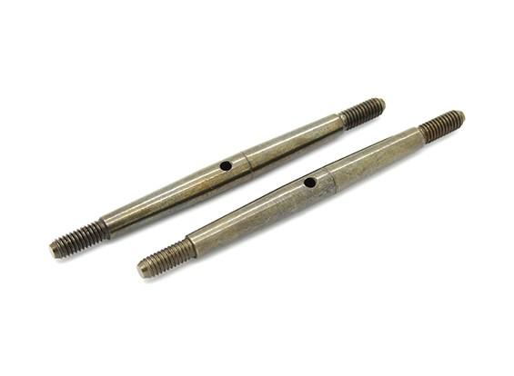 TrackStar 1/8 Spring Steel Turnbuckle M4x70 (2pcs)